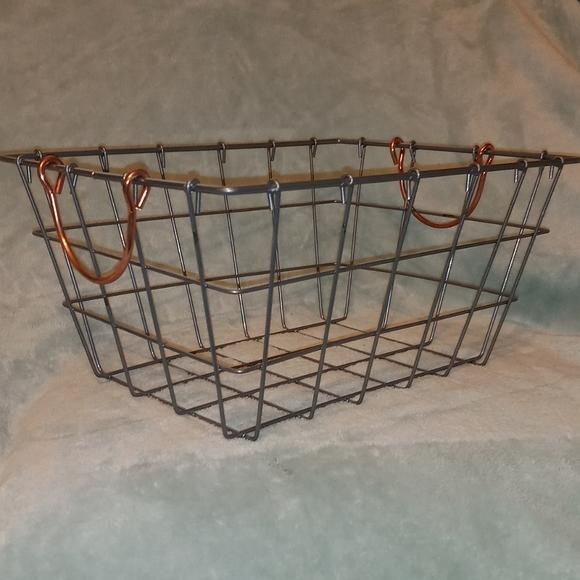 Farmhouse Style Metal Storage Basket